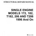 Cessna Single Engine Structural Repair Manual  172, 182, T182, 206 AND T206 1996 And On SESR04