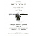 Ranger Aircraft Engine Manuals SGV-770C-2 Series 1943 Parts Catalog $12.95