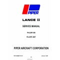 Piper Lance II PA-32T-300, PA-32RT-300T Service Manual v09 Part # 761-641  $19.95