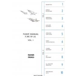 Saab 35XD F/RF/TF-35 Flight Manual/POH 1971 - 1993