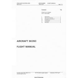 Saab SFI FPL SK35C Aircraft Flight Manual/POH 1994
