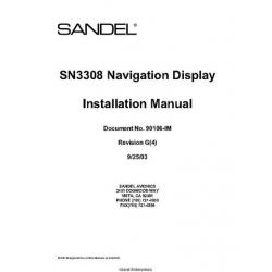 Sandel SN3308 Navigation Display Installation Manual 2003