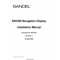 Sandel SN3308 Navigation Display Installation Manual 2008 $13.95