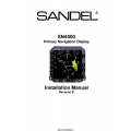 Sandel SN4500 Primary Navigation Display Installation Manual $13.95