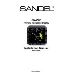 Sandel SN4500 Primary Navigation Display Installation Manual