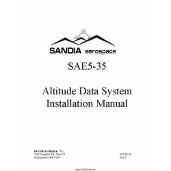 Sandia SAE5-35 Altitude Data System Installation Manual $5.95