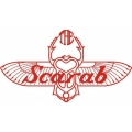 Scarab Aircraft Decal/Sticker 3''high x 5 3/4''wide!