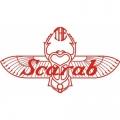 Scarab Aircraft Decal/Sticker 3''high x 5 3/4''wide!