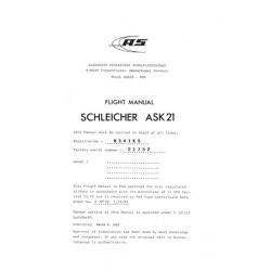 Schleicher Ask 21 Flight Manual 1983