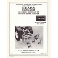 Sears Cultivator 917.60605 for Sears Suburban or Custom Riding Tractor Assembly Operating Instructions