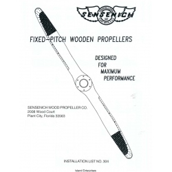 Sensenich Fixed-Pitch Wooden Propellers Installation List $4.95