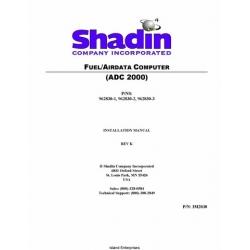 Shadin ADC 2000 Fuel/Airdata Computer IM2830 Installation Manual 2002 $9.95