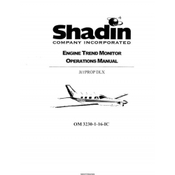 Shadin Engine Trend Monitor Operations Manual $6.95