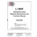 Slick Magneto L-1363F 4300/6300 series Maintenance and Overhaul Manual 1991-2011  $6.95