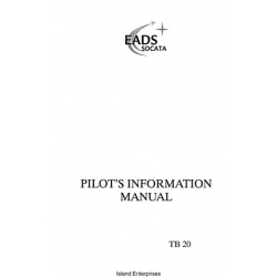 Eads Socata TB20 Pilot's Information Manual 1988 - 2003 $13.95