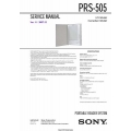 Sony PRS-505 Portable Reader System Service Manual $5.95