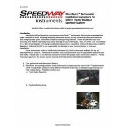 Speedway MicroTach Tachometer Installation Instructions for 2004 Harley Davidson Sportster Custom