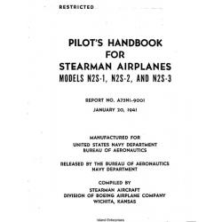 Stearman Airplanes Models N2S-1, N2S-2 & N2S-3 Pilot's Handbook 1941