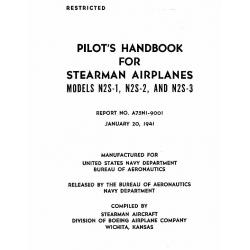 Stearman N2S-1-2-3 Pilot's Handbook A75NI-9001