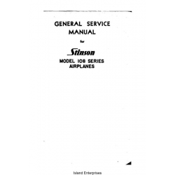 Stinson 108 Series Airplanes General Service Manual $14.95
