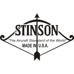 Stinson Aircraft Decal/Sticker 7.5''h x 11 3/4''w!