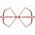 Stinson Aircraft Decal/Sticker  14''h x 11 1/8''w!