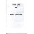 Piper Super Cub PA-18 Owner's Hanbook  $9.95