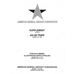 Grumman AG-5B Tiger AA-5 American Supplement Series Illustrated Parts Catalog $13.95