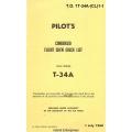 Beechcraft T-34A Mentor USAF Series Pilot's Condensed Flight Crew Check List 1960 $4.95
