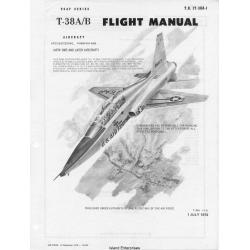 Northrop T-38A Talon-B USAF Series Aircraft T.O. 1T-38A-1 Flight Manual/POH1978
