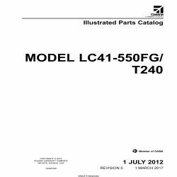 Cessna Model LC41-550FG/T240 Illustrated Parts Catalog T240PC05 $29.95