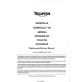 Triumph Bonneville T100 America Speedmaster Thruxton Scrambler Motorcycle Service Manual Part Number T3859909