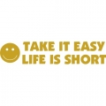 Take It Easy,Life Is Short! STICKER/DECAL!