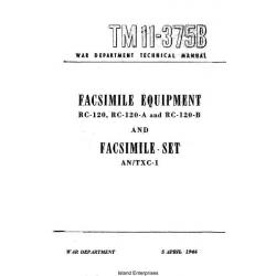 TM 11-375B Facsimile Equipment RC-120, RC-120-A and RC-120-B and Facsimile Set ANTXC-1