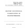 TM 12-427 Military Occupational Classification of Enlisted Personnel $2.95