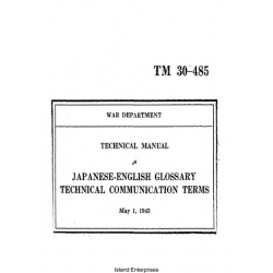 TM 30-485 Japanese-English Glossary Technical Communication Terms