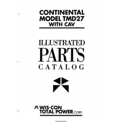 Wisconsin Continenal Model TMD27 With Cav Illustrated Parts Catalog