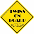 Twins On Board! Decal/Stickers!