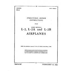 Taylorcraft  L-2 , L-2A and L-2B Structural Repair Instruction 1944
