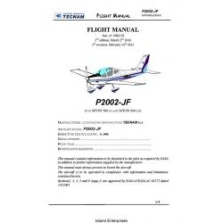 Tecnam P2002-JF Flight Manual/POH 2010 - 2011 $5.95