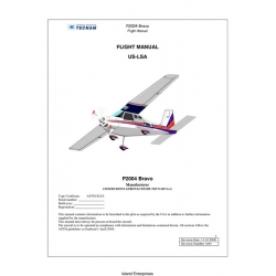 Tecnam US-LSA P2004 Bravo Flight Manual 2008 $4.95