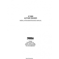 Terra AT 3000 Altitude Encoder/ Digitizer Installation & Maintenance Manual $9.95
