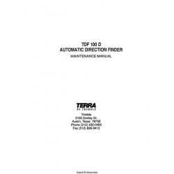 Terra TDF 100D Automatic Direction Finder Maintenance Manual $9.95