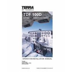 Terra TDF 100D Automatic Direction Finder Operation/ Installation Manual 1996 $9.95