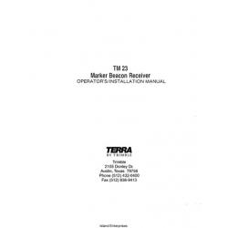 Terra TM23 Marker Beacon Receiver Operator's/ Installation Manual $9.95