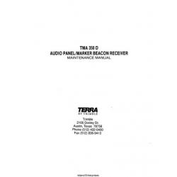 Terra TMA 350D Audio Panel/Marker Beacon Receiver/Intercom Maintenance Manual $9.95