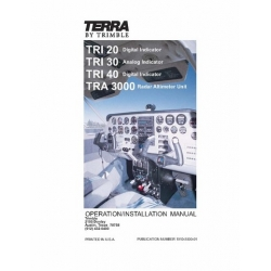 Terra TRI 20, 30, 40 & TRA 3000 Radar Altimeter Unit Operation/ Installation Manual 1996 $9.95