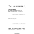 The Automobile A Practical Treatise on The Construction of Modern Motor Cars Steam, Petrol Electric and Petrol-Electric $4.95