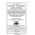 The Modern Gasoline Automobile Its Design, Contruction Maintenance and Repair $4.95