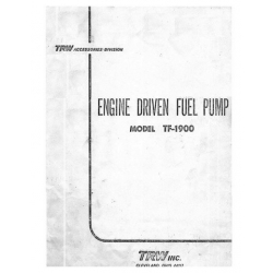 Cleveland Thompson TRW TF-1900 Engine Driven Service Bulletin and Fuel Pump Manual